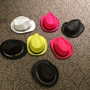 2/$10 Fun material hats fedora style
